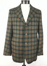True Vintage Deansgate Hart-Albin Sport Coat Jacket Green Red Large Made in USA