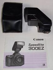 CAMERA SLR ORIGINAL OEM CANON SPEEDLITE FLASH 300EZ WITH CASE AND MANUAL