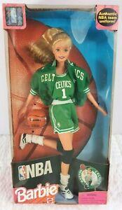 VTG NEW 1998  Boston Celtics NBA Barbie Mattel #20716 Authentic Uniform NBA Team