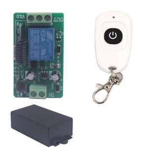 Home 12V 10A Wireless Switch Relay 1CH 1/2/3 Remote Transmitter+Receiver Module