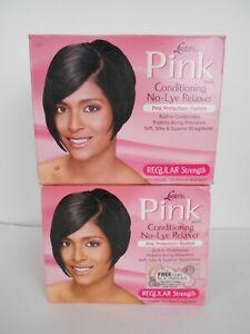 2-Luster's Pink Conditioning No-Lye Relaxer Kit for Straightening Hair - Regular