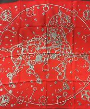 Foulard Carré  Hermes 90 Soie Cheval Fusion 2014 Collector Scarf 35 Silk