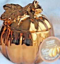 Yankee Candle GOLDEN PUMPKIN Ceramic Candle ~~Extremely Rare~~