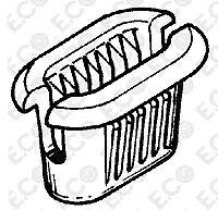 MADREVITE IN PLASTICA FIANCATA -SOTTOPORTA FIAT-ALFA ROMEO-LANCIA  7754387