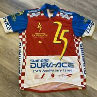 Shimano Dura Ace 25th Anniversary Issue 1998 Authentic Bicycle Jersey Vintage