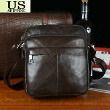 Men's Leather Crossbody Messenger Shoulder Bags Briefcase Handbag Satchel Bag