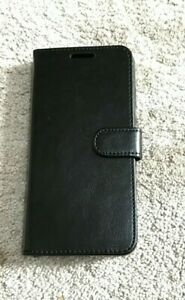 Black Leather Book Case for HUAWEI P20 - UK SELLER FAST DISPATCH
