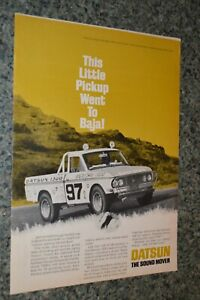 ★★RARE-1969 DATSUN BAJA TRUCK ORIGINAL ADVERTISEMENT AD 69 LIL HUSTLER PICKUP