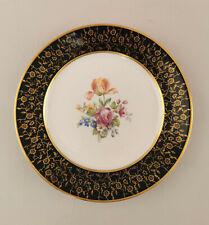 99840737 Plato de Porcelana para Tartas Weimar Cobalto Decoración Oro Flores