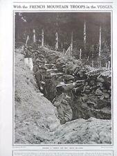 1915 FRENCH MOUNTAIN TROOPS IN THE VOSGES LEBEL RIFLE WW1 WWI
