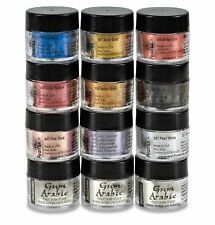 Jacquard Pearl Ex - 12pc Powdered Mica Metallic Pigments Calligraphy Set Gold