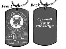 SF GIANTS - Dog tag Necklace or Key chain with FREE ENGRAVING