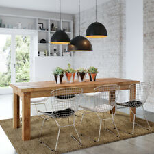 Rustic Wooden Dining Table in Natural Rectangular 10 Seater Solid Timber 5cm Top
