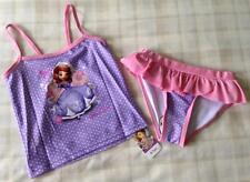 Girls Adorable Disney Princess Sofia The First Bikini/Swim Tankini Set ~ 6-7 Yrs