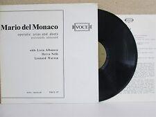 VOCE-97 Mario Del Monaco- Operatic Arias & Duets UNISSED RARE LP Albanese Nelli
