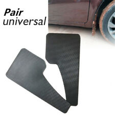 Pair Universal Car Auto Mudflaps Wheel Moulding Fender Mudguard Custom Black ABS