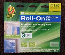 Lot of 15 Duck Brand Roll-ON Window Insulating Kit Premium Insulating Film NEW