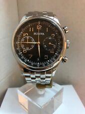 Bulova Men's Analogue Vintage Chronograph Stainless Steel Bracelet Watch 96B234