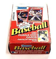1990 DONRUSS Baseball Puzzle + Cards Box of 36 Wax Packs w/ Carl Yastrzemski