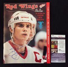 Steve Yzerman Signed Vintage Detroit Red Wings 1988 Game Program Jsa Certified