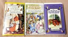 Lot 3 BEATRIX POTTER Vhs Videos PETER RABBIT Tom Kitten FLOPSY BUNNIES Animated