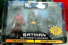 "DC Universe Set of 3 (Gotham Knight) - 3.75"" Batman, Scarecrow, Deadshot"