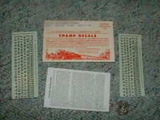 "Champ decals HO Numbers Alphabet LB-30 Railroad Roman black 9/64""  G75"