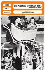 FICHE CINEMA : L'IMPOSSIBLE MONSIEUR BEBE - Grant,Hepburn 1938 Bringing Up Baby