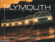 BIG 1985 Plymouth Brochure / Catalog: TURISMO,VOYAGER,GRAN FURY,
