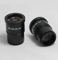 Compound Microscope Eyepieces WF10X/22 High Eye-Point 30mm Pack of 2