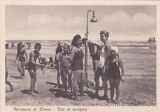 * RIMINI - Miramare - Vita di Spiaggia, La Doccia 1940