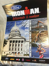 2011 Ironman Wisconsin Triathlon Poster- signed by Golnick, Jacobs, Leslie