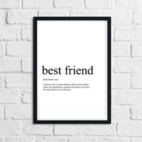Funny Best Friend Meaning Print, Definition, Typograpy, Wall Art Gift