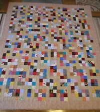 "New Usa Made Full Size Quilt -Colorful Patchwork 70"" x 82"""