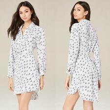 BEBE PRINT HI-LO SHIRT DRESS NEW NWT $160 MEDIUM M