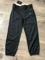 Nike Youth Boy's Core Baseball Dri-Fit Pants, Black/White, Medium