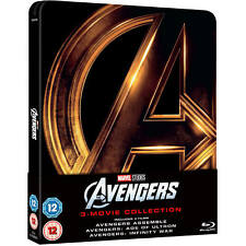 Marvel The Avengers 1-3 Steelbook Blu-ray Collection! FREE Delivery!