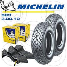 2 copertoni Gomme camere Michelin S83 3.00-10 Vespa 125 Et3 (vmb1t)