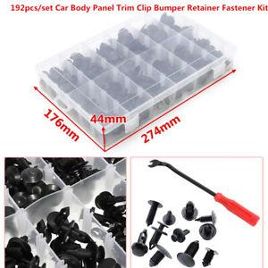 192PCS/SET Car Body Panel Retainer Push Pin Rivet Trim Clip Bumper Fastener Kit