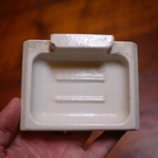 Vintage Antique Americana Farmhouse Solid Porcelain Wall Mounted Soap Dish