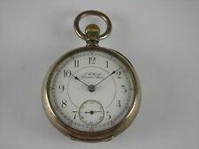 Antique 18s Rockford pocket watch. Coin silver case. Made 1893