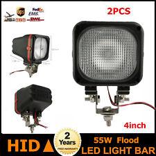 2X 55W LED HID Xenon Light Flood Lamp 4inch Fits 12V DC Driving Car Rear SUV MEL