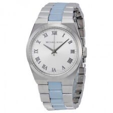 MICHAEL KORS MK6150 Channing Silver + Blue Tone Ladies Watch rrp £259