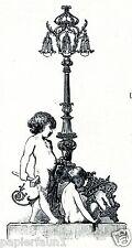 Kronleuchter Cvrk Prag Reklame von 1927 Praha Lampen Lustry Engel Nackedei Putte
