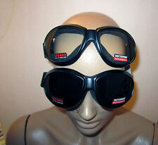 (2 GOGGLES) Motorcycle SUPER DARK & Clear Glasses Sunglasses Burning Man On Sale