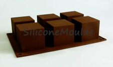 6 Cell Cube Square Mini Wedding Cake Silicone Bakeware Mould Mold Chocolate Pan