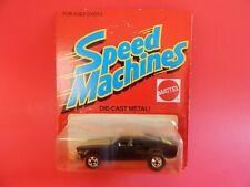 Hot Wheels vintage Speed Machines Unpunched Black Mustang Stocker #4249 1982
