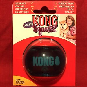Kong Action Tough Rubber Squeaky Ball 5 cm Multi Textured Fetch Toy Interactive