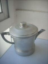 caffettiera rara in alluminio vintage anni 50
