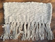 NEXT Ladies Cream Knitted Snood/Winter Scarf withTassles *BNWT*
